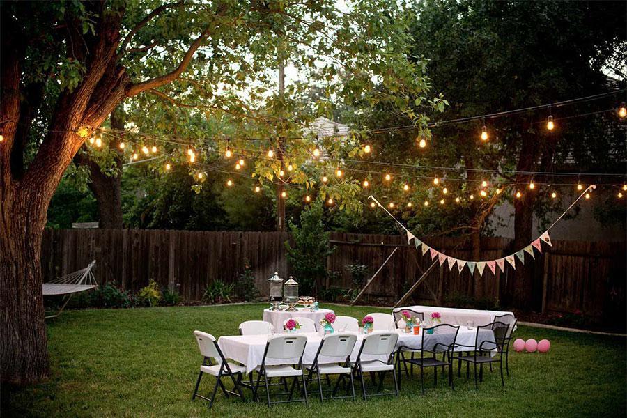 Ấn tượng với không gian ngoài trời trong buổi tiệc mừng sinh nhật công ty